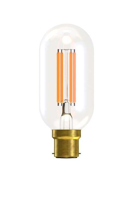 BELL 60145 4W LED Filament Tubular Short Clear BC 2700K